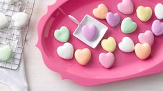 P.S.- We love this Betty Crocker recipe Mini Conversation-Heart Cookies