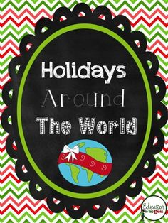 Holidays / Christmas Around the World Unit and Mini Books from Education to the Core on TeachersNotebook.com (77 pages)  - A comprehensive unit to celebrate Christmas/Holidays around the world! This unit comes with 9 mini-books packed with information about each country.