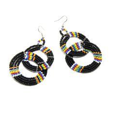 Seed Bead #Earrings  Country of Origin: Tanzania