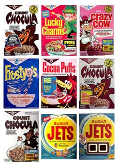 #Vintage #Retro Cereal Packaging