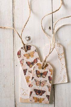 Scrap Paper & Wood Tags DIY