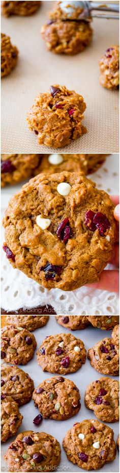 The BEST Pumpkin Oatmeal Cookies. Soft, without being cakey. These are a must try!