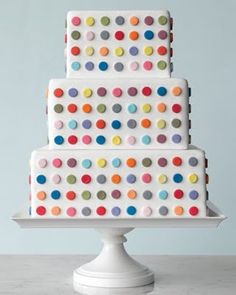 i love everything about this cake.  colorful, geometric, square.  and hey it's cake!