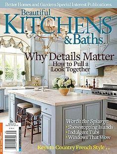 Beautiful Kitchens & Baths - Spring 2013 »  Carolina Blue & cream kitchen? Yes please!
