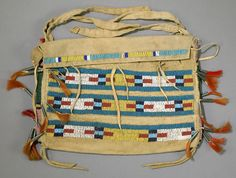 SOUTHERN PLAINS BEADED TIPI BAG,