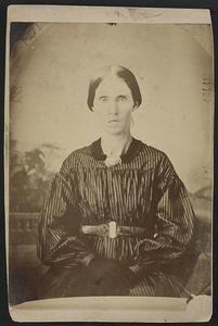 Mrs. A. J. Blue,Urbana,RFD #4,Ohio,striped dress,dark gloves,US Civil War | eBay