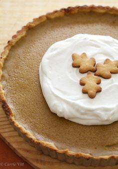 Gluten Free, Grain Free, Paleo Pumpkin Pie via DeliciouslyOrganic.net