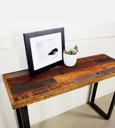 Reclaimed Wood Patchwork Hall Table | Home Furniture | What We Make