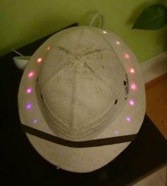 Dr. Livingstone's festival hat - a VU meter Pith Helmet