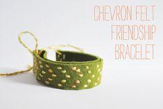 Chevron felt friendship bracelet (tips)