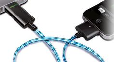 Cool charger cord that show current.