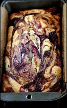 Double Berry Swirl Greek Yogurt Cake - Incredibly moist, with ribbons of blackberry and raspberry puree | http://parsleysagesweet.com | #yogurt #berries #cake