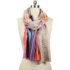 Colorful Droplets Scarf