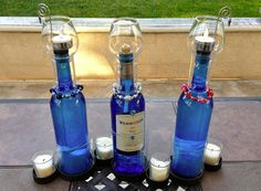 #Oil #Candle #recycled #bottle #lamp #upcycled #inexpensive #DIY #awesomewinestore.com