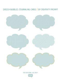 Speech Bubbles Printable
