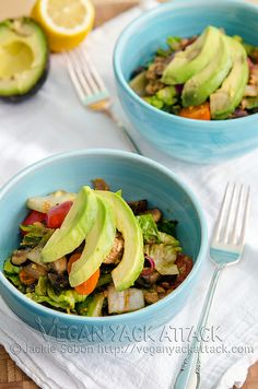 Warm Smoky Tempeh Salad