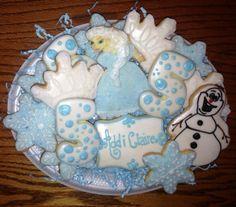 """Disney's """"Frozen"""" cookie platter."""