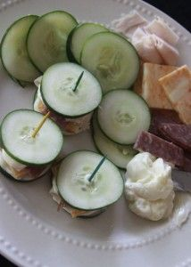 "Must remember to keep cucumbers around as my new ""bread""!      Healthy Lunch – Cucumber Sandwiches"