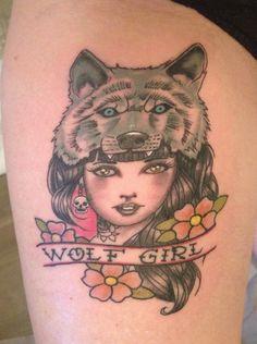 Wolf Girl selon le dessin de Rik Lee par Greg Royal Tattoo Studio Avignon