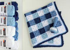 haakset baby dekentje en rammelaar : patroon en garen. $41,91, via Etsy.