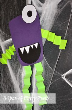 """How to Spook a Monster - """"How to"""" writing activity and craft...adorable!"""