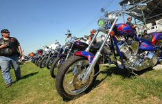 Motorcycles on display at the Monroe County Jam 2013 #MonroeMI