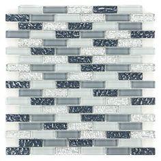 silver grey sand glass tiles