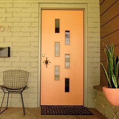 I would love to find mid-century, atomic doors like these!