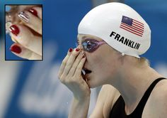 The Fabulous Nails Of Women's Olympic Swimming. Missy Franklin, USA