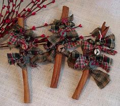 Cinnamon Stick Tree Prim Christmas Tree Basket Bowl Filler Cupboard Tuck Home Decor itsyourcountry. $9.99, via Etsy.