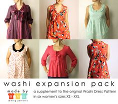 Washi Dress EXPANSION PACK // Made by Rae