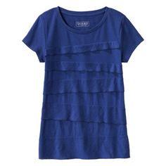 Cherokee® Women's Short Sleeve Tiered Top - Assorted Colors