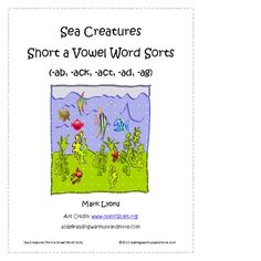 This literacy center includes 5 short a word family sorts.