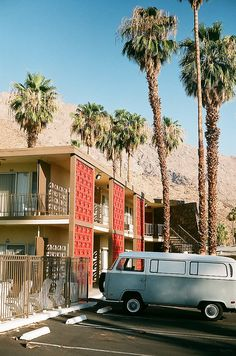 Palm Springs travel lodge.