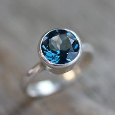 Size 5 Ready to Ship London Blue Topaz Gemstone by onegarnetgirl, $240.00