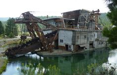 Sumpter, Oregon. The Gold Dredge, as it sits today.