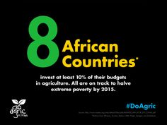 In Africa, investing in #agriculture is an effective way to help reduce poverty. #DoAgric