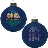 Notre Dame Fighting Irish Undefeated Season 2012 Navy Christmas Ornament