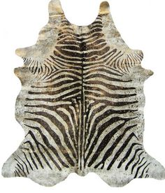 Zebra gold metallic cowhide