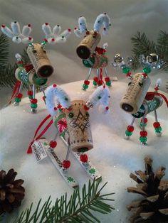 WINE CHRISTMAS ORNAMENT - Winedeer  ,Very Merry Moose, Big Horn Sheep -Grenache. $16.95, via Etsy.