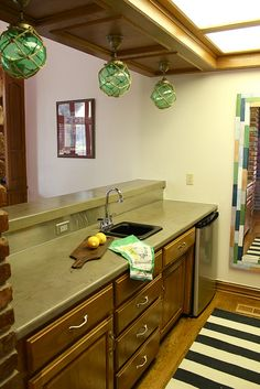 How to - concrete over old countertops. LOVE. THIS.