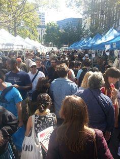 Week before last... Brooklyn Book Festival (getting bigger every year)
