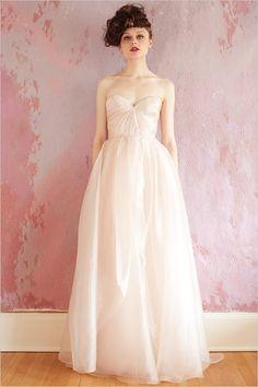 pink wedding dress by Sarah Seven sarahseven.com