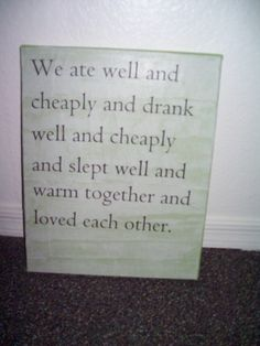 Sign for our first apartment.