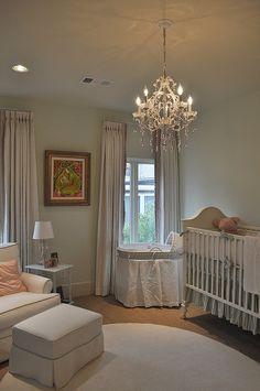 Reposteiros normais crib bedding, kid space, nursery design, nurseries, chandeliers, nursery rooms, girl nurseri, curtain, babies rooms
