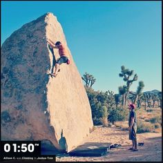 A beautiful day to go bouldering in Joshua Tree. #REI1440project