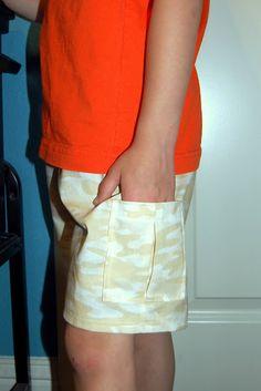 short, pocket, kids clothes, clothes refashion, boy fashion, diy tutorial, kids fashion, babies clothes, diy clothes