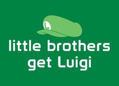 Little Brothers Get Luigi T-Shirt | SnorgTees