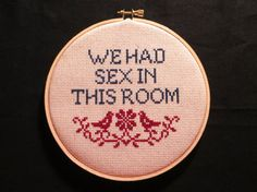 Hey, I found this really awesome Etsy listing at https://www.etsy.com/listing/171330556/we-had-sex-cross-stitch