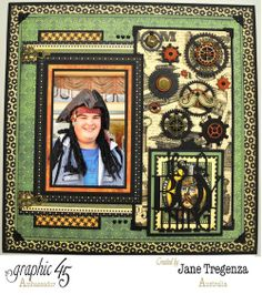 A wonderful layout by Jane Tregenza using multiple Graphic 45 collections! #graphic45